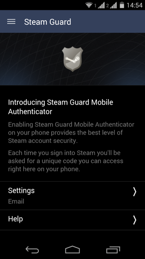 Informace Steam Guard