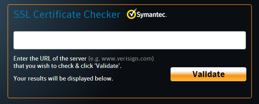 Symantec SSL certificate checker