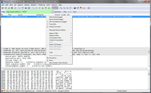 Wireshark Follow TCP stream