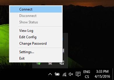 Připojení na VPN